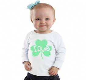 Love Inside Green Glitter Shamrock personalized shirt