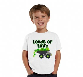 Loads of Love Shamrocks personalized shirt