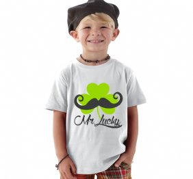 Mr Lucky Mustache and Shamrock shirt
