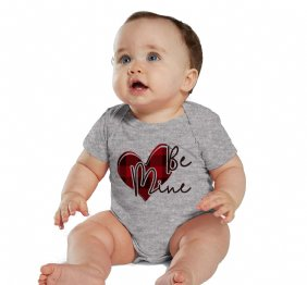 Be Mine Valentine Buffalo Plaid Heart Bodysuit