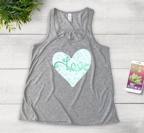 Love by Isabella - Heather Girl Tank