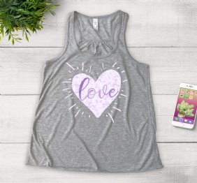 Love by Manuella - Heather Girl Tank