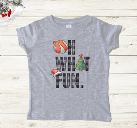 Oh What Fun - Girl Shirt