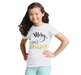 Merry and Bright Girls t-shirt