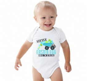 Little Easter Egg Hunter Dump Truck Kids Shirt or Baby Bodysuit