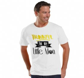 Thankful for My Little Man Adult Jersey Men Shirt
