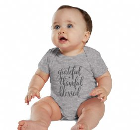 Grateful Thankful and Blessed Girls Shirt or Bodysuit