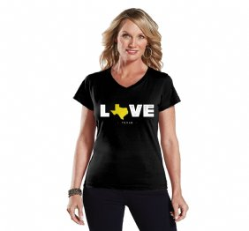 Love Texas Ladies Modern Fit V-Neck Shirt