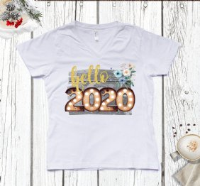 Hello 2020 Ladies V-Neck T-Shirt