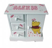 Musical Jewelry Box - Stand Up Pooh