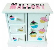 Musical Jewelry Box - Cupcakes