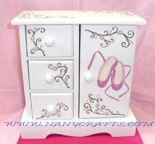 Musical Jewelry Box - Ballet Shoes