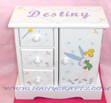 White Musical Jewelry Box Tinker Bell