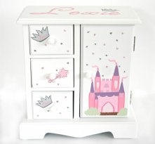Princess Castle Personalized Musical Jewelry Box for Girls