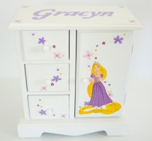 Personalized Musical Jewelry Box for Girls - Rapunzel