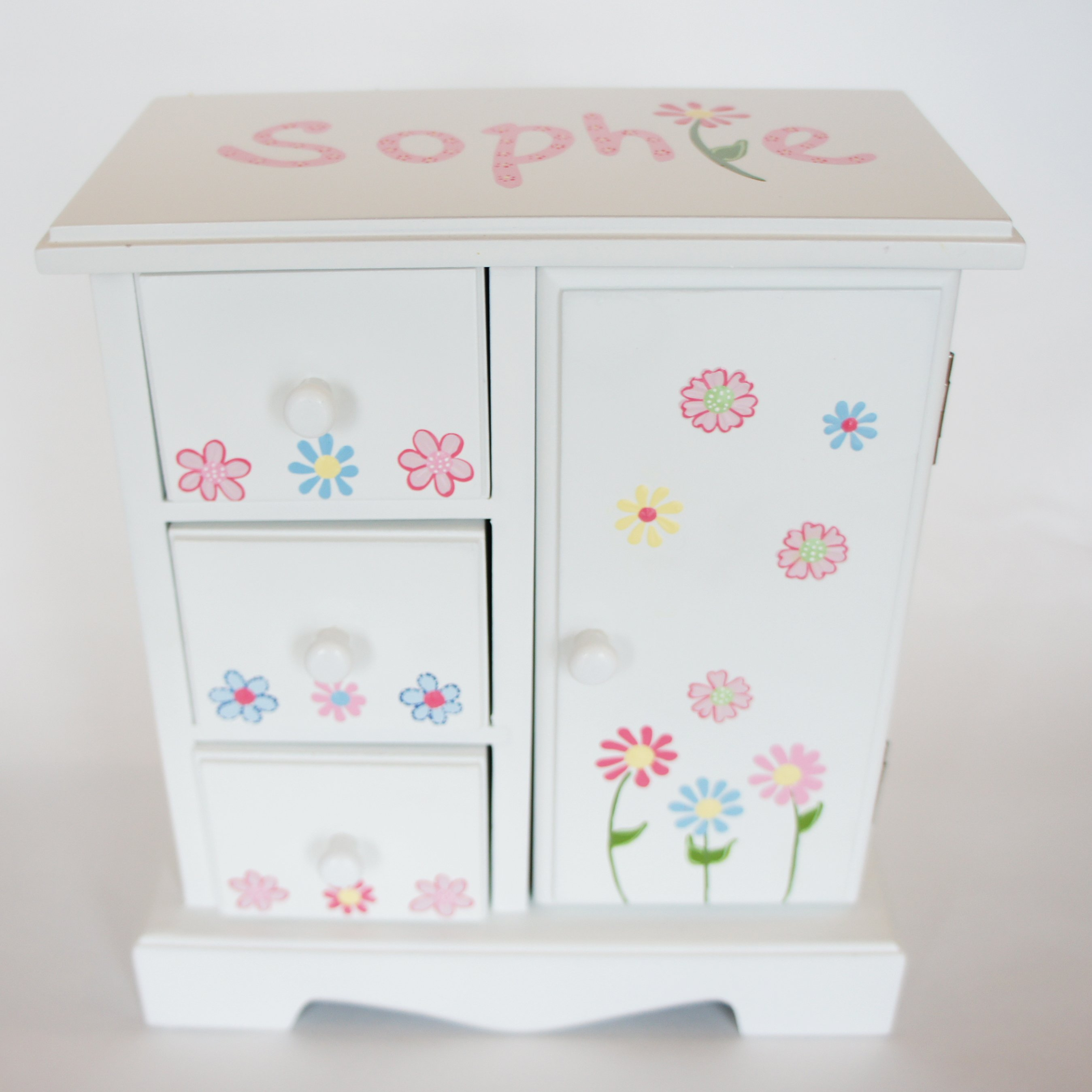 Personalized jewelry box for little girl beautyful jewelry for Girls large jewelry box