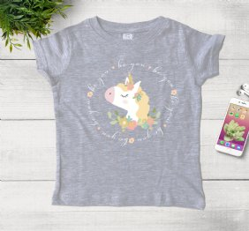 Be You Ladies Shirt with a Cute Unicorn