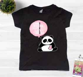 Girls - Strong Beautiful Leader Fearless Awesome Ladies Shirt with a Panda