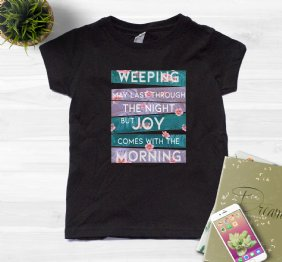Joy comes with the Morning Flourish Girls T-Shirt
