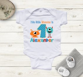 This Little Monster is 3 birthday Boy shirt