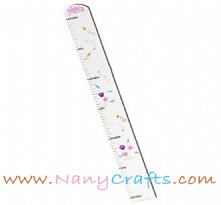 Personalized White Kids Growth Chart English Garden