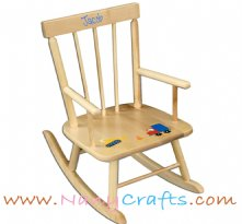 Classic Kids Rocking Chair Natural Construction