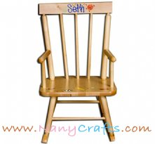 Classic Kids Rocking Chair Natural Sports