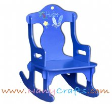 Blue Puzzle Kids Rocking Chair Surf Sun