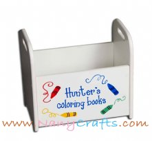 Kids Book Caddy Crayons