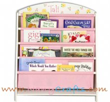 Pocket Bookcase Pink Yellow Blooms